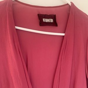 Reformation wrap dress size small